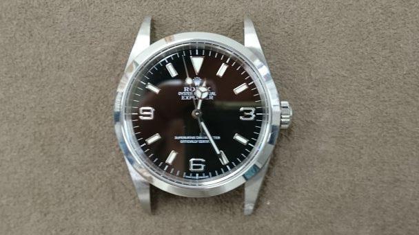 ロレックスのエクスプローラーを新潟市にある時計修理工房でオーバーホールしました。