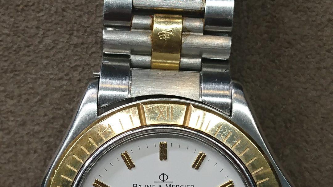 ボーム&メルシエを新潟市にあるブローチ時計修理工房でバネ棒除去、コマ外ししました。