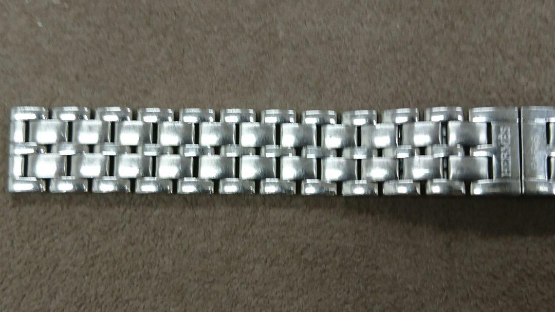 エルメスの時計ブレスレット磨き直し新品仕上は新潟市のブローチ時計修理工房