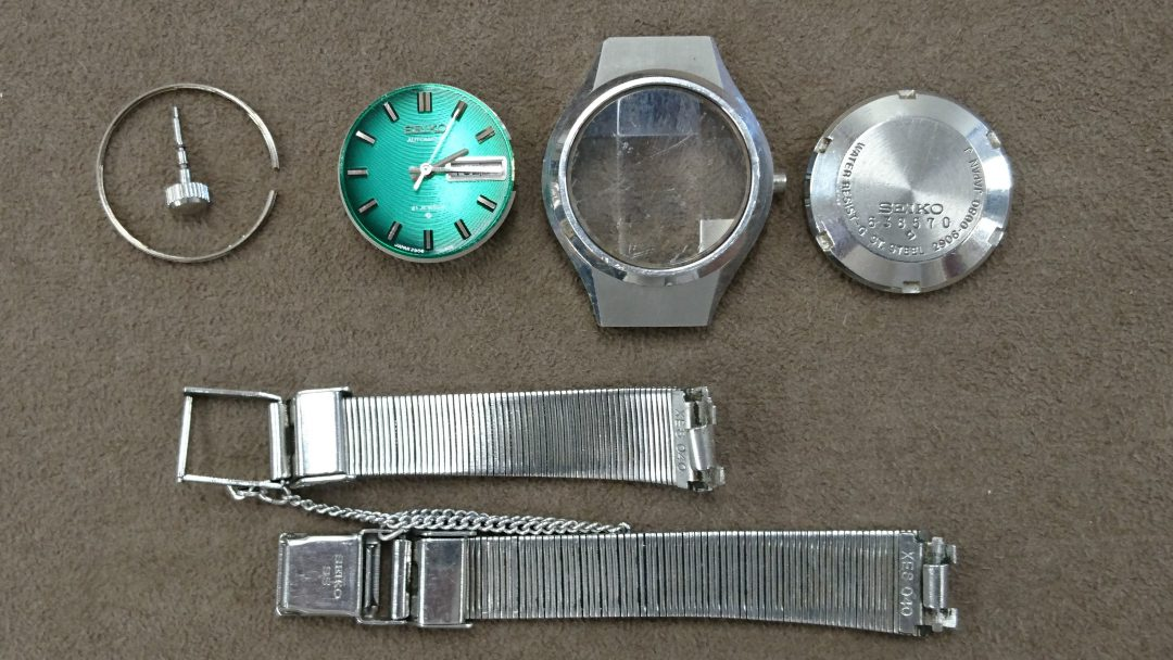 セイコー5も分解掃除オーバーホールは新潟市のブローチ時計修理工房