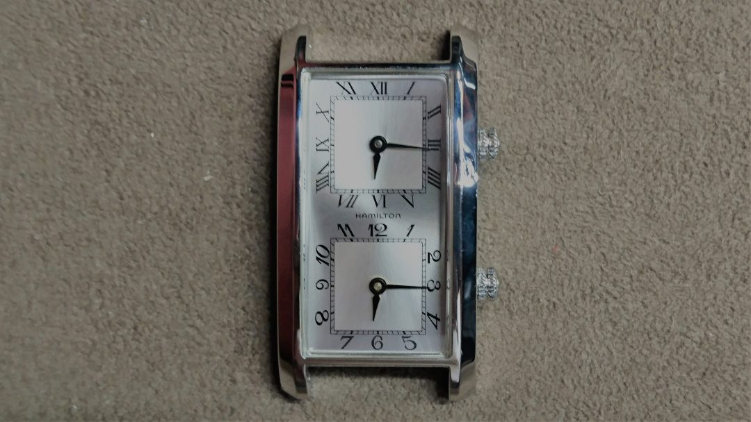ハミルトンのデュアルタイムを新潟市にある時計修理工房でムーブメント交換しました。