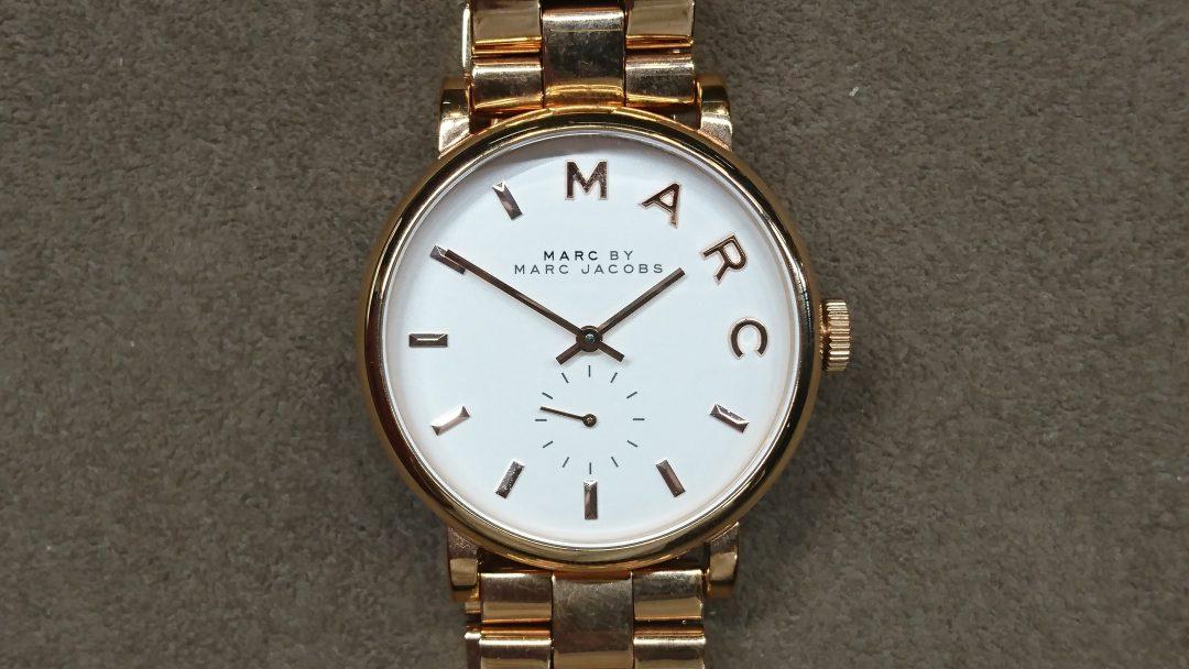 マークジェイコブス 電池交換 時計修理は新潟市ブローチ時計修理工房におまかせください!