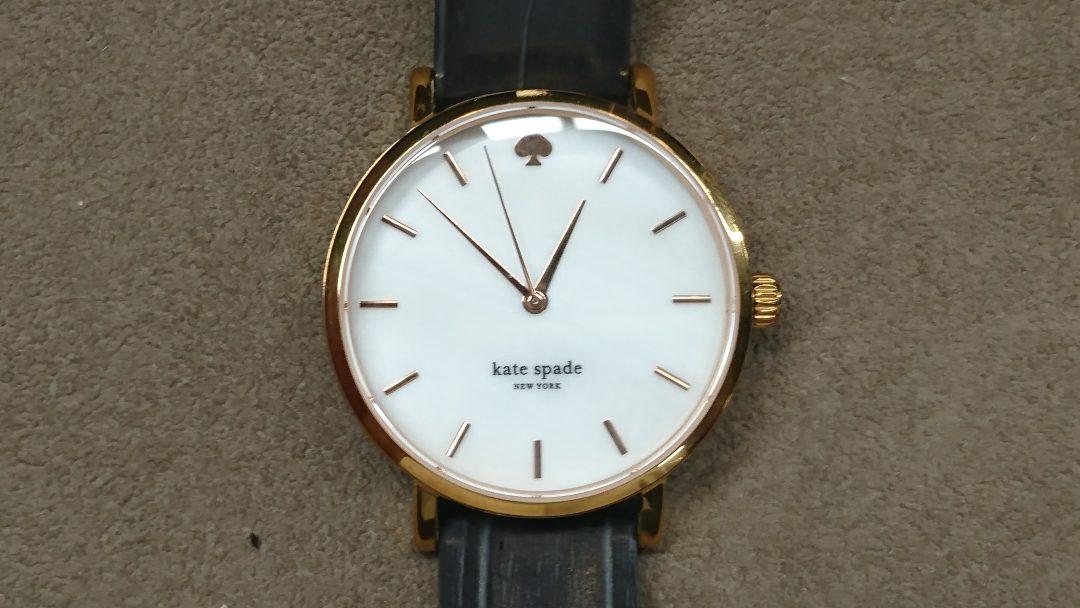 kate spade(ケート スペード)の電池交換を新潟市にある時計修理工房BROOCHで承りました。