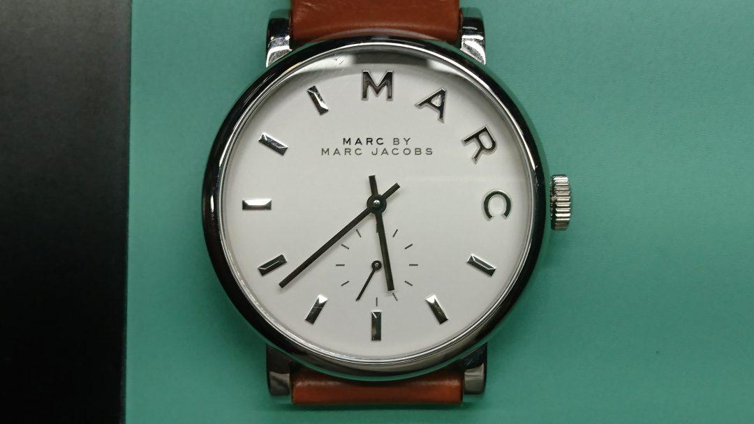 MARC JACOBSの電池交換を新潟市にある時計修理工房BROOCHで承りました。