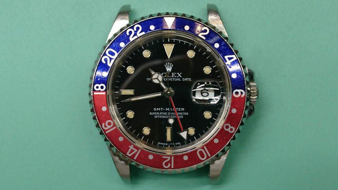 ロレックス GMT-マスター Ref.16700のオーバーホールを新潟市にある時計修理工房BROOCHで修理しました。 電池交換やクラスプ修理も承ってます。