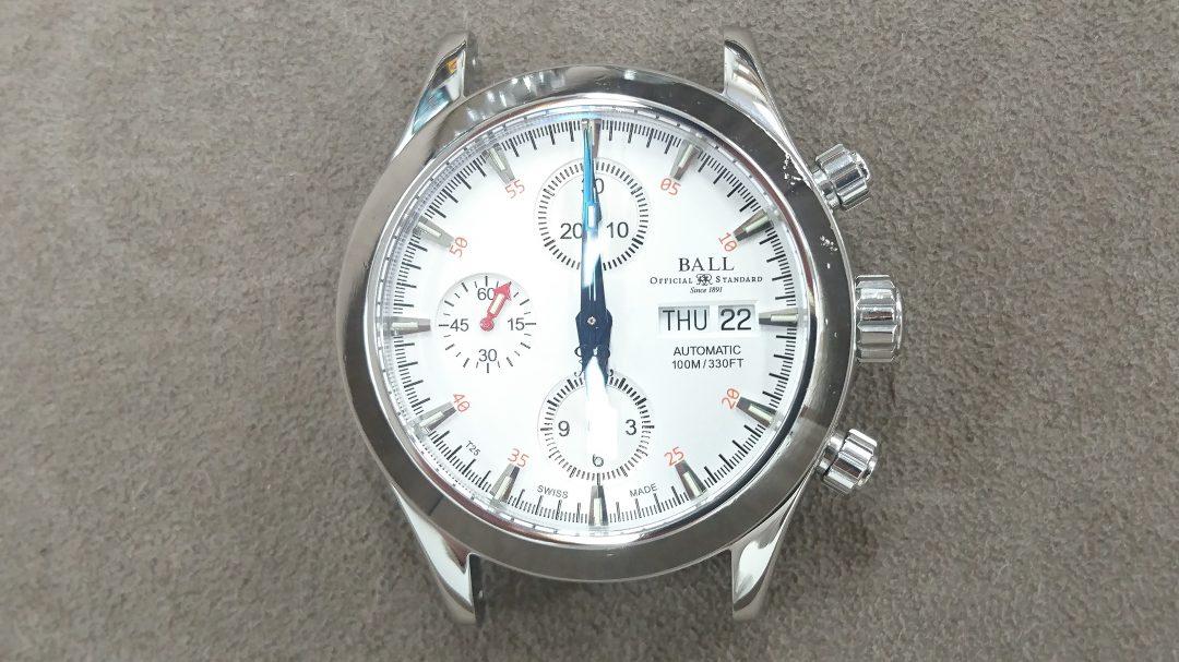ボールウォッチのケース新品仕上磨き修理は新潟市のブローチ時計修理工房