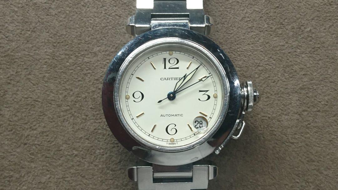 カルティエ オーバーホール、ポリッシュ 時計修理は新潟市ブローチ時計修理工房へ!