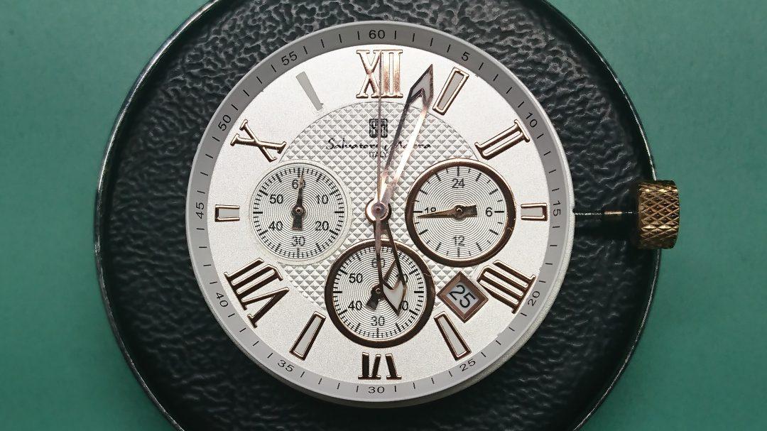 サルバトーレマーラ インダイアル枠 インデックス取り付け修理は新潟市ブローチ時計修理工房へ!
