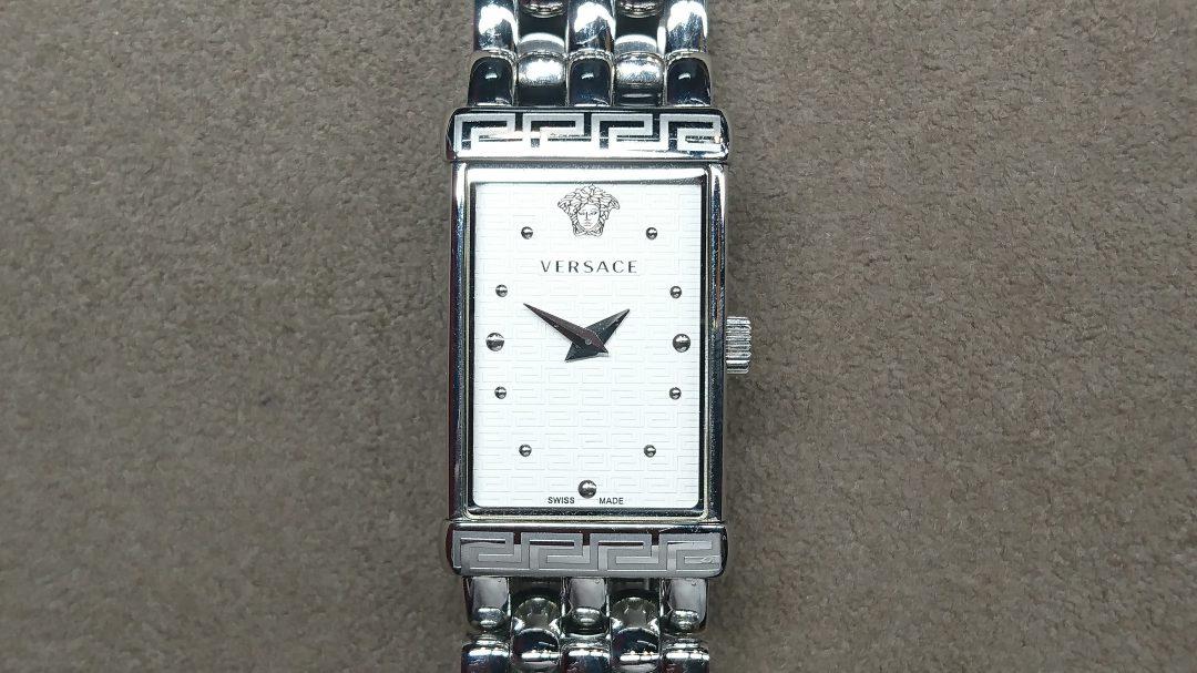 ヴェルサーチ 電池交換 時計修理は新潟市ブローチ時計修理工房におまかせください!