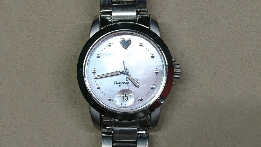 新潟で時計修理はクォーツの磁気抜きはbrooch時計修理工房アニエスベーもやってます