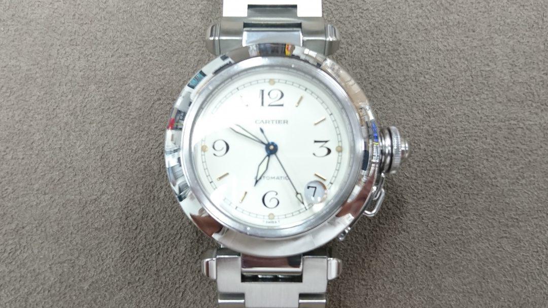 新潟で時計修理オーバーホール時計電池交換をするならBROOCH時計修理工房 カルティエref2324のオーバーホール&ポリッシュ