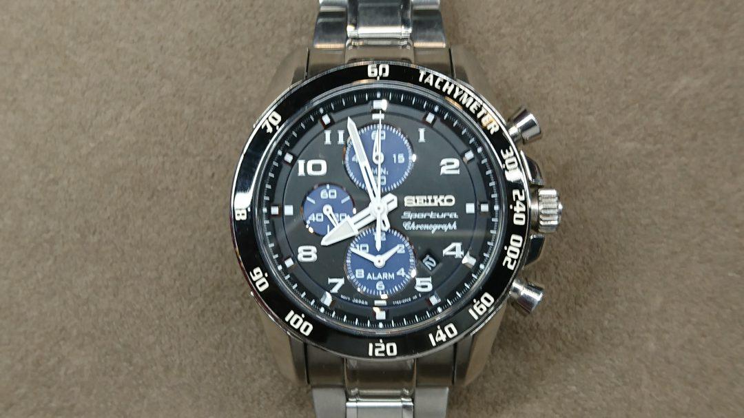 セイコーref.7T62-0KV0の電池交換を新潟市にある時計修理工房で行いました。