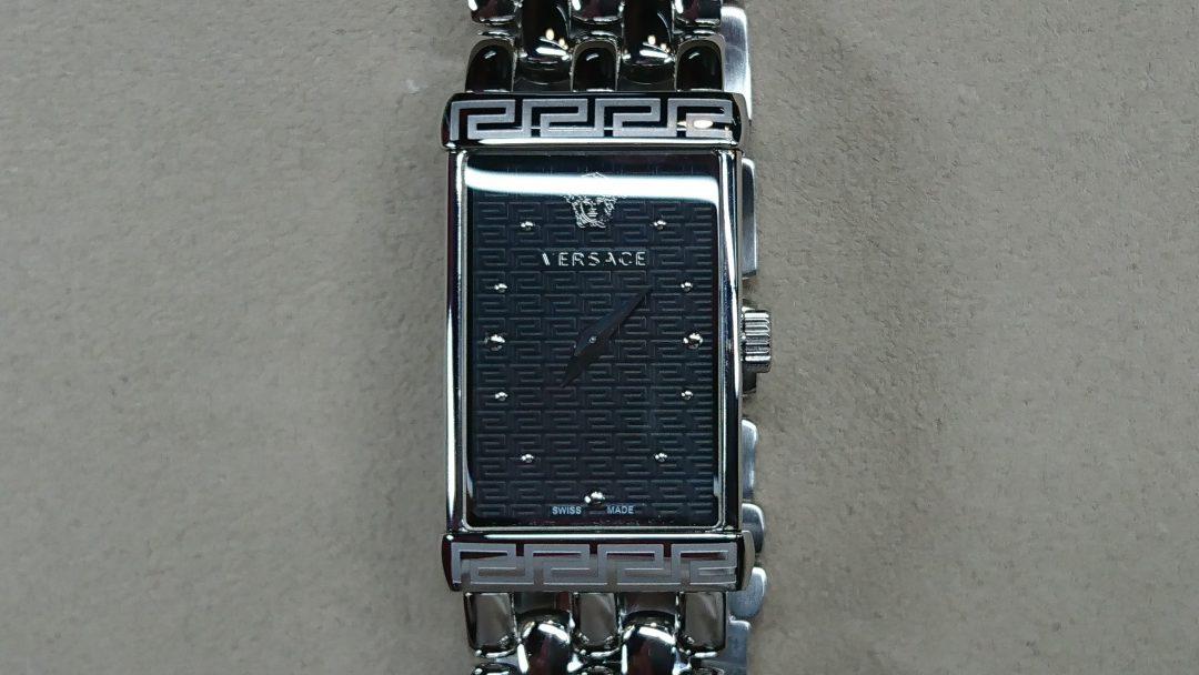 VERSACE(ヴェルサーチ・ヴェルサーチェ)の電池交換を新潟市にある時計修理工房BROOCHで承りました。オーバーホールなども承っております