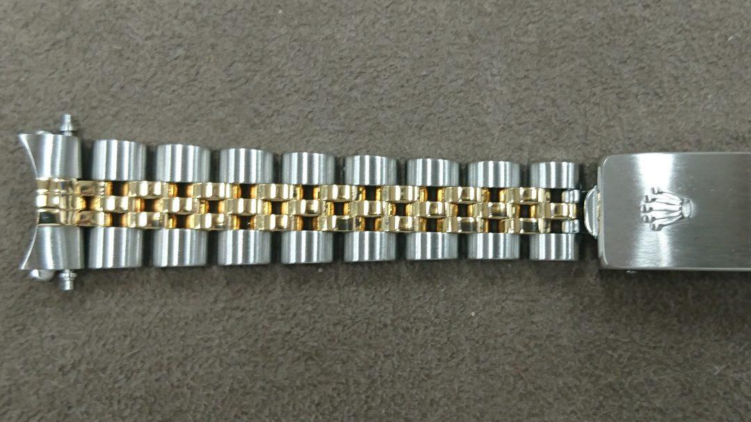 ジュビリーブレスレットの新品仕上磨き直しはブローチ時計修理工房新潟へ