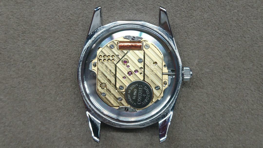 グランドセイコーの電池交換は新潟市のブローチ時計修理工