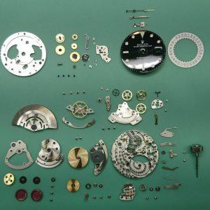 新潟で時計修理オーバーホール時計電池交換をするならBROOCH時計修理工房 ROLEXサブマリーナ CAL3135のオーバーホール&ポリッシュ