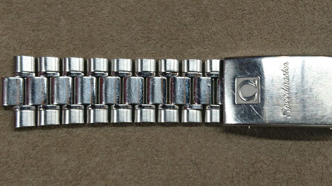 時計のベルト磨き直しオメガスピードマスター新潟市のブローチ時計修理工房