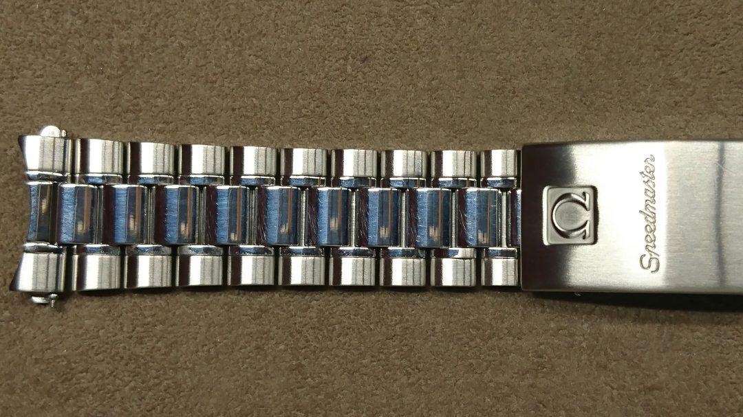 時計のベルト磨き直し新潟市のブローチ時計修理工房オメガスピードマスター