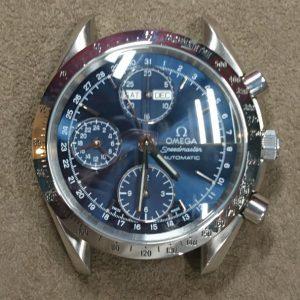 新潟で時計修理オーバーホール時計電池交換をするならBROOCH時計修理工房 オメガ スピードマスター ref 175 0044のケース&ブレス ポリッシュ