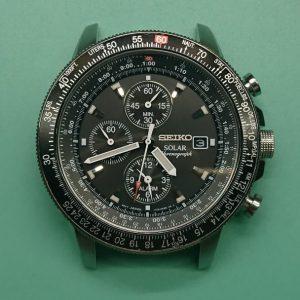 新潟で時計修理オーバーホール時計電池交換をするならBROOCH時計修理工房 SEIKO V172-OACOのガラス交換