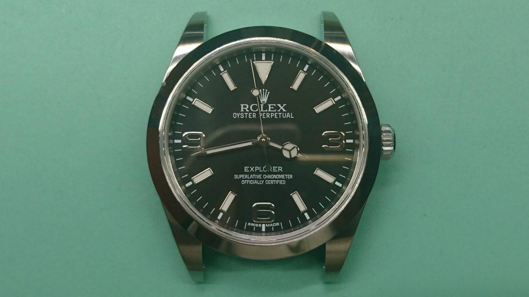 ロレックス ポリッシュ(外装磨き)は新潟市ブローチ時計修理工房におまかせください!