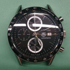新潟で時計修理オーバーホール時計電池交換をするならBROOCH時計修理工房 TAG HEUER カレラ クロノグラフ CV2010のオーバーホール&プッシュボタン交換