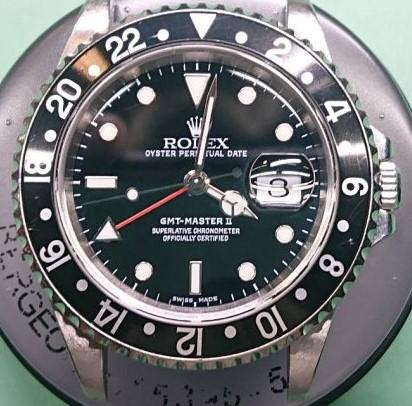 ロレックス GMTマスター オーバーホール(分解掃除)は新潟市ブローチ時計修理工房へ!