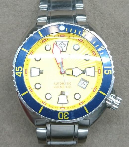 ゾディアック・オーシャンエアを新潟市にあるブローチ時計修理工房でコマ調整しました。