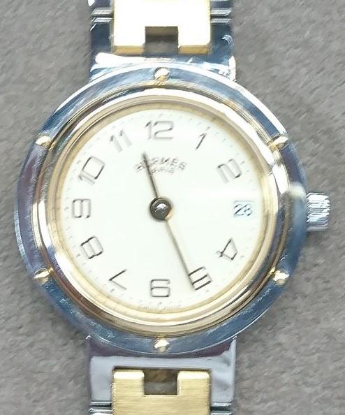 エルメスを新潟市にある時計修理工房でコマ調整しました。