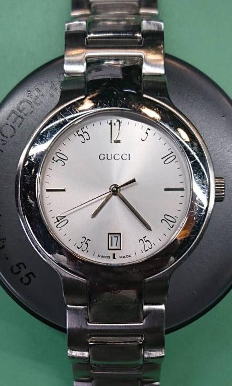 グッチ、クオーツ時計のオーバーホールなら新潟市にある時計修理工房までお越しください。
