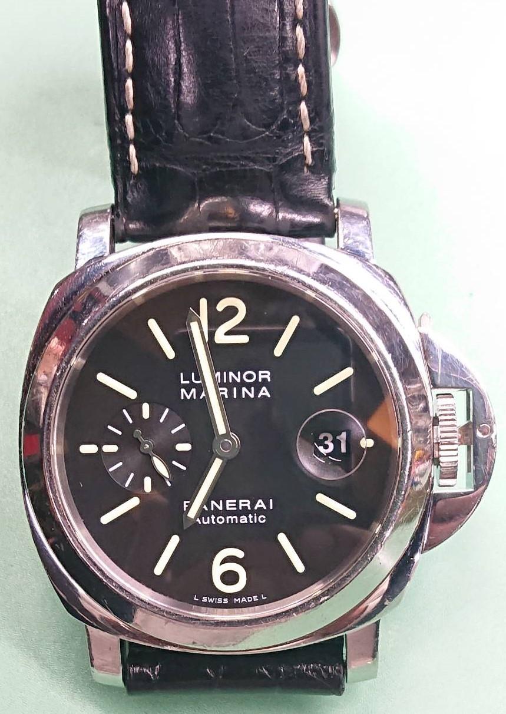 パネライルミノールマリーナのオーバーホール外装磨きをするなら新潟万代ブローチ時計修理工房