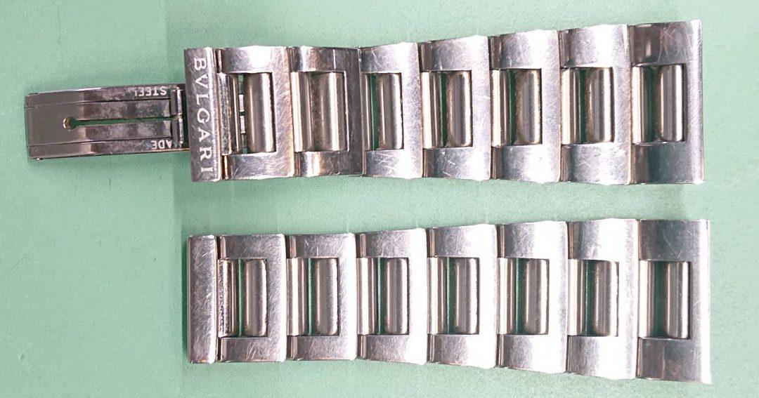 ブルガリ ポリッシュ(外装磨き) 時計修理は新潟市ブローチ時計修理工房におまかせください!