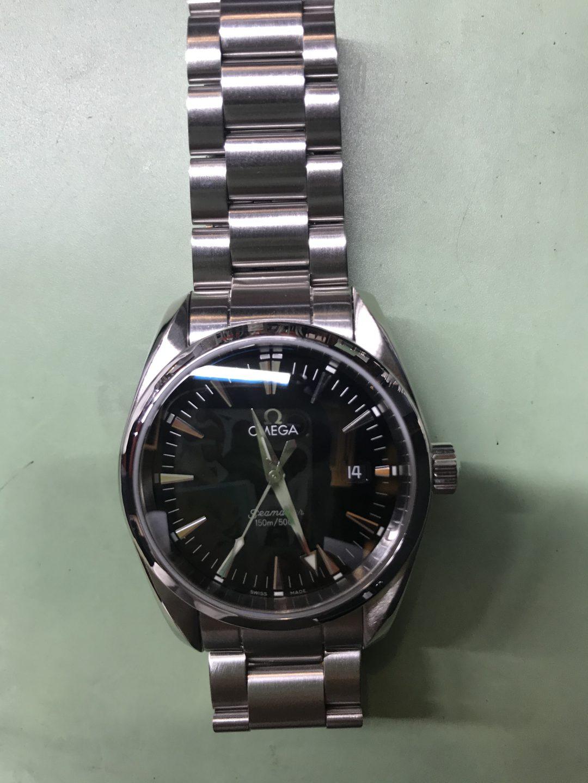 新潟市にある時計修理工房で、オメガのアクアテラをオーバーホール承りました。