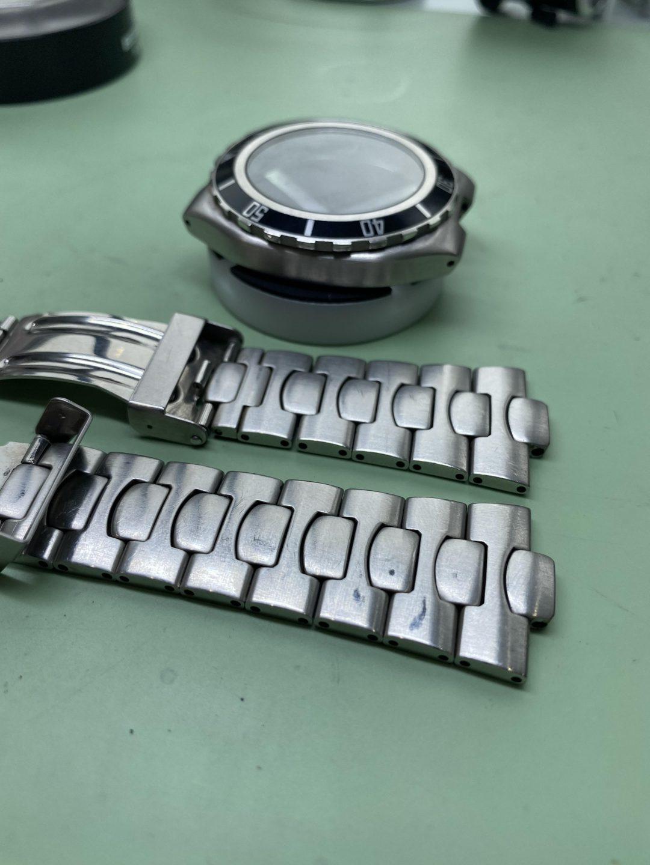 OMEGA-オメガ- Seamasterのオーバーホール(分解掃除)ポリッシュ加工(外装磨き)の修理は新潟市にあるブローチ時計修理工房まで!