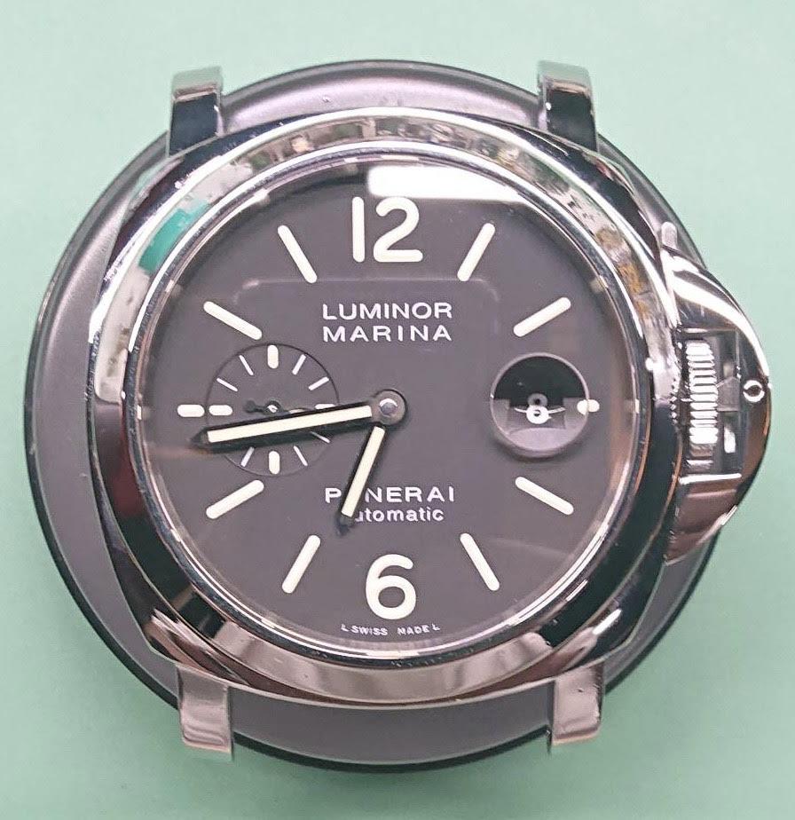 新潟市にある時計修理工房で、パネライのオーバーホールとポリッシュ加工を行いました。