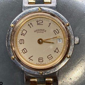 エルメス オーバーホール(分解掃除)は新潟市ブローチ時計修理工房におまかせください!