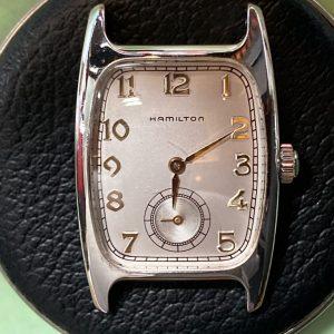 ハミルトン オーバーホール(分解掃除)、ベルト交換 修理は新潟市ブローチ時計修理工房におまかせください!