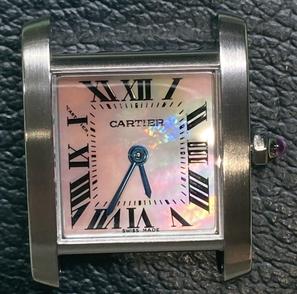 カルティエのオーバーホールをするなら新潟万代ブローチ時計修理工房