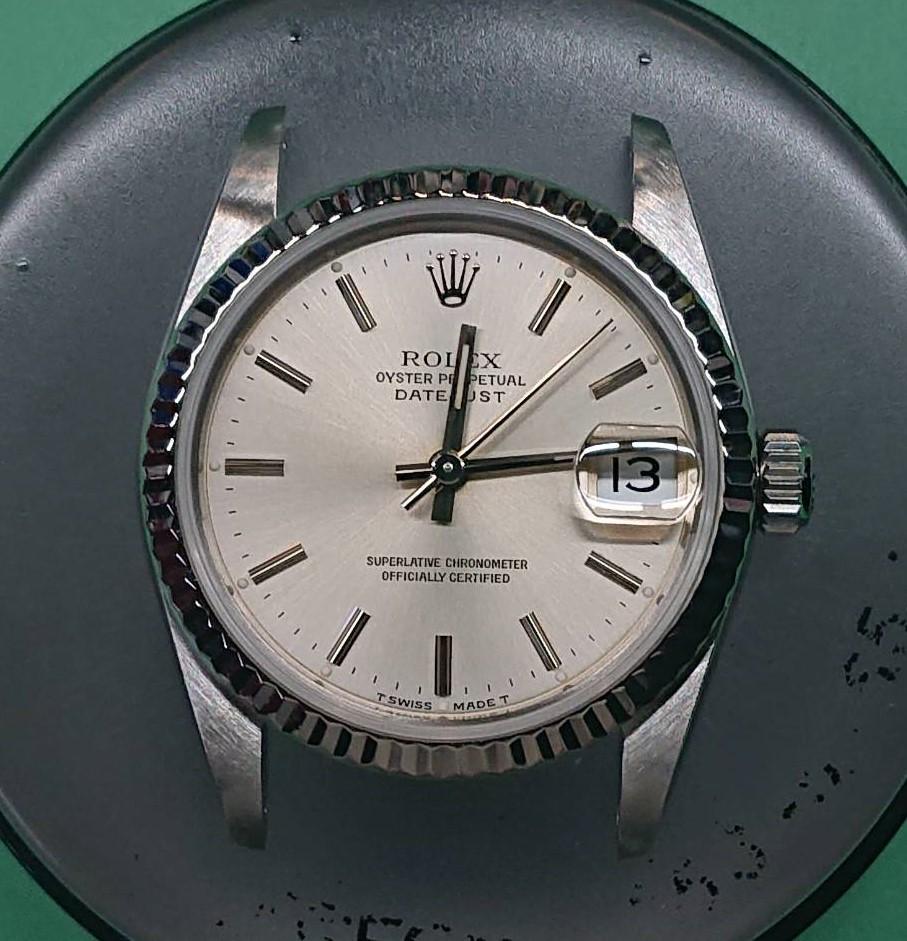 ロレックスデイトジャストのオーバーホール磨きはブローチ時計修理工房