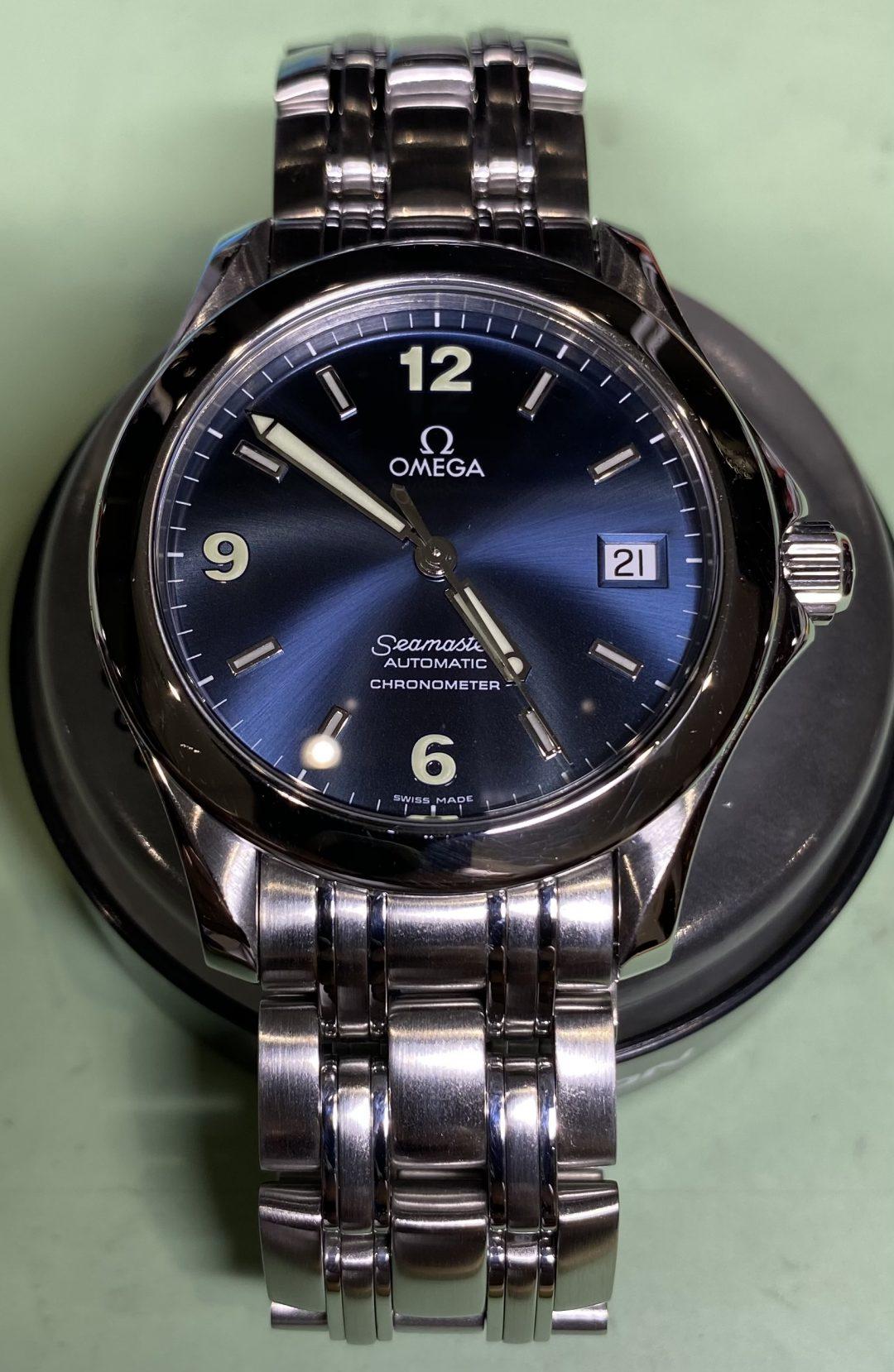 OMEGA-オメガ- Seamaster Ref.168.1601のオーバーホール(分解掃除)やポリッシュ加工(外装磨き)は新潟市にある時計修理工房までお越しください。