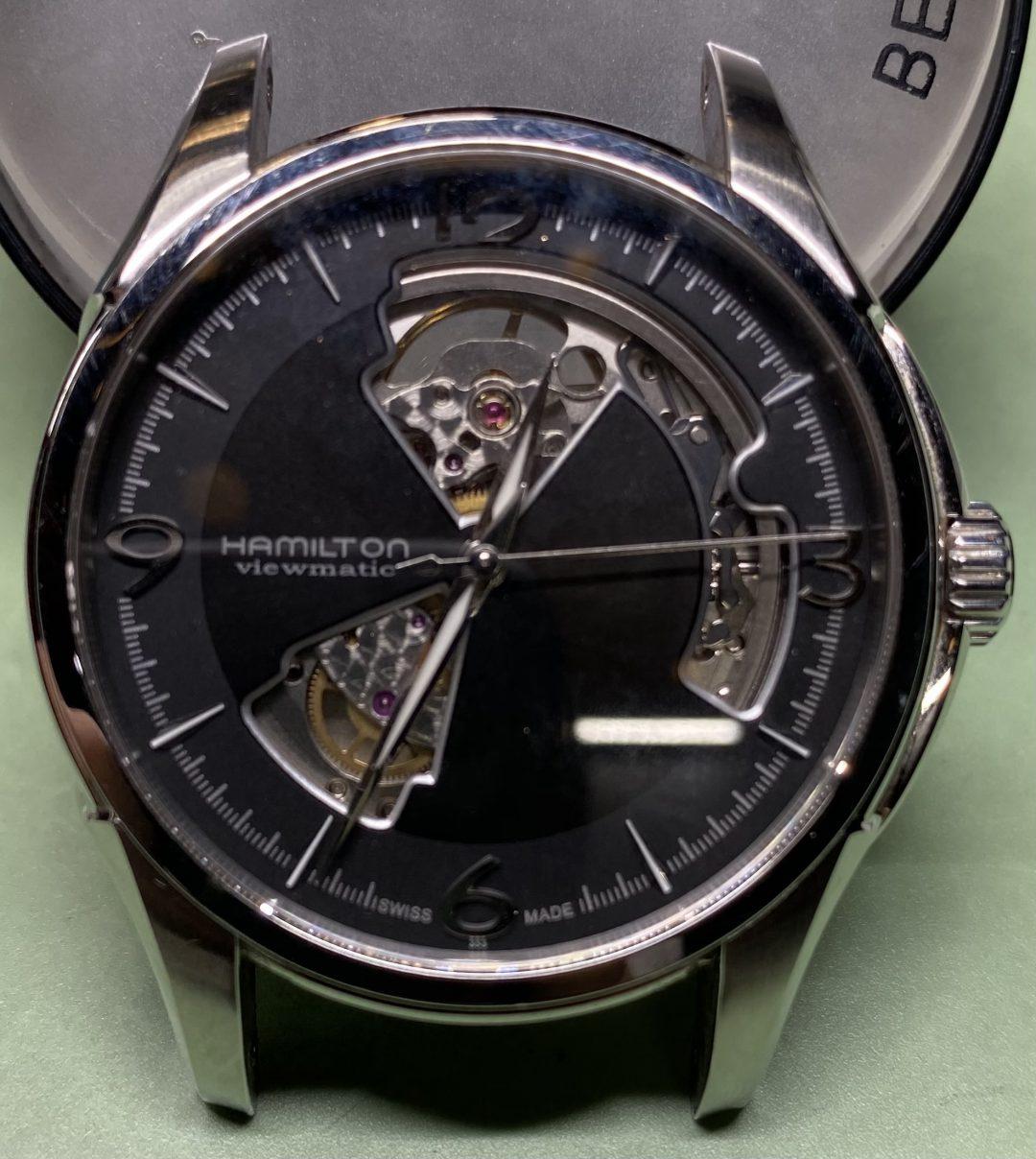 ハミルトン オーバーホール&ゼンマイ交換のご依頼で新潟市にある時計修理工房BROOCHで受けました。。