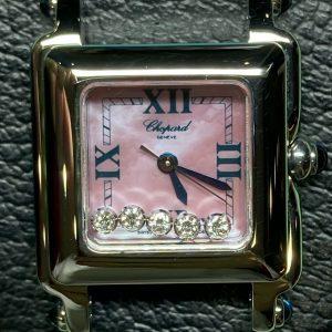 新潟市にある時計修理工房でショパールのオーバーホール、ポリッシュ加工を行いました。