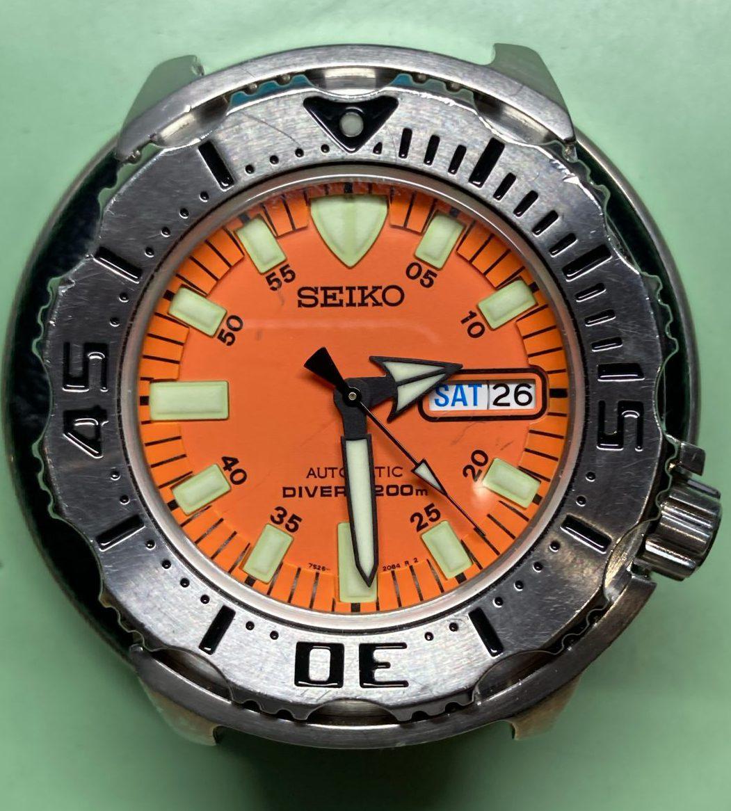 SEIKO 7S26-0350  ダイバーズウォッチ 新潟市にある時計修理工房ではオーバーホール、ポリッシュ加工も承っております