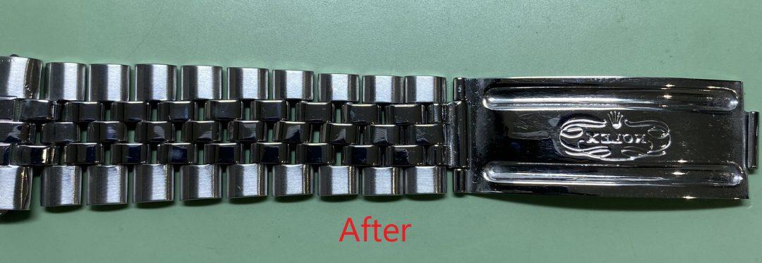 ロレックスオイスターデイトジャストのオーバーホール外装磨きをするなら新潟万代ブローチ時計修理工房