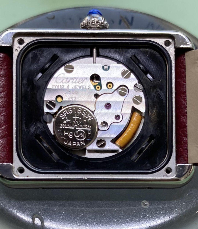カルティエのタンクソロを新潟市にある時計修理工房で電池交換しました