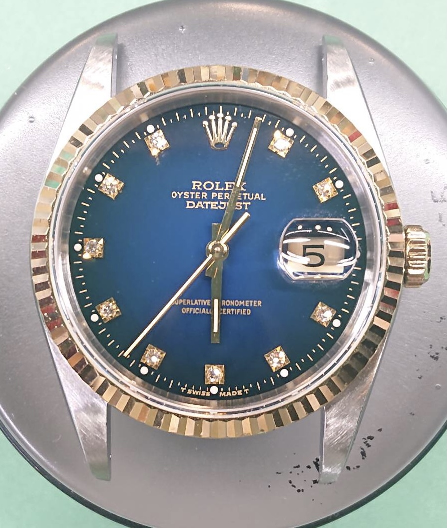 ロレックスのオーバーホール、ポリッシュ加工を新潟市にある時計修理工房で行いました。