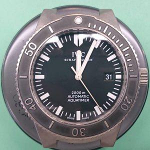 IWCアクアタイマーのオーバーホール外装磨きは新潟万代ブローチ時計修理工房