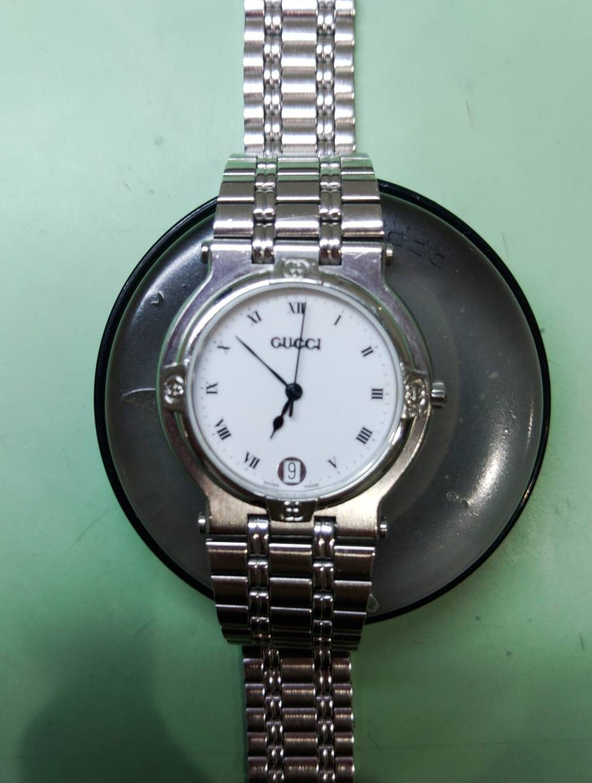 グッチの9100Mをオーバーホールするなら新潟万代ブローチ時計修理工房