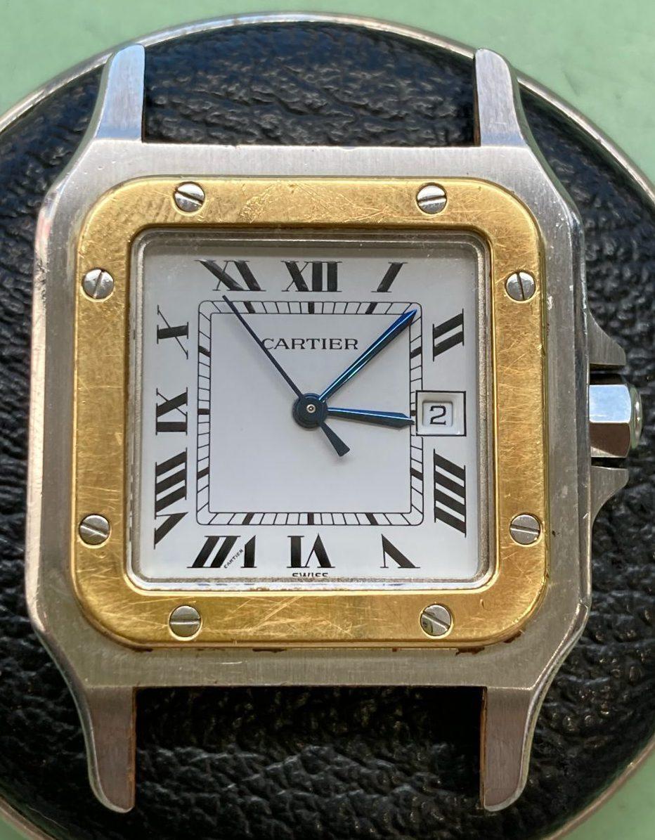 カルティエのオーバーホール、ポリッシュは新潟市ブローチ時計修理工房へ!