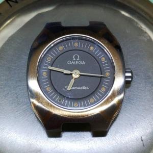 オメガシーマスターポラリスのオーバーホールは新潟万代ブローチ時計修理工房